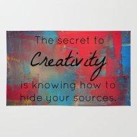 creativity Area & Throw Rugs featuring Creativity by My Joie De Vivre