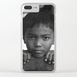Children eyes of the Vietnamese innocence Clear iPhone Case