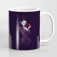 evil queen Mugs featuring The Evil Queen V2 by Cursed Rose