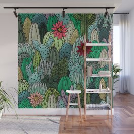 Cactus Collection Wall Mural