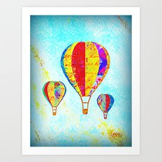 Beautiful Balloons Mosaic-Look Art Print