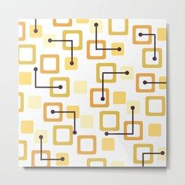 Midcentury 1950s Tiles & Squares Yellow Metal Print