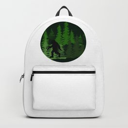Bigfoot In Forest Backpack