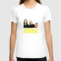 band T-shirts featuring Nirvana Band by Rothko