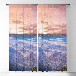 First Beach - Cliff Walk Newport, Rhode Island Sunset Landscape Blackout Curtain
