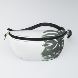 Monstera Leaves Reflecting In Water Minimalist Tropical Style Fanny Pack