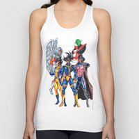 xmen Tank Tops featuring Z fighters crossover xmen by Unic art