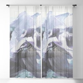 Glacier Mountains Sheer Curtain