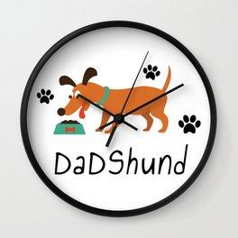 DadShund Dachshund Dad Funny Love Dog Pet Gift Wall Clock