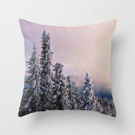 Winter Subalpine Throw Pillow