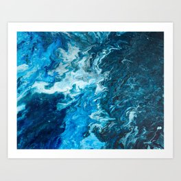 002 Phthalo Blue Art Print