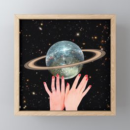 Saturn Disco Framed Mini Art Print