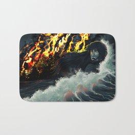 Running to the Sea Bath Mat