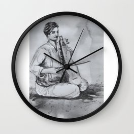 Indian Musician Wall Clock