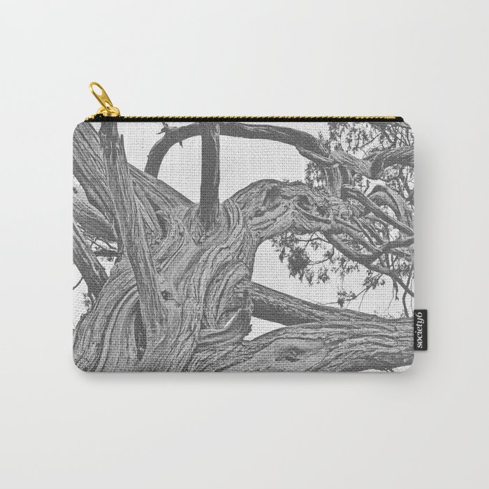 OLD JUNIPER BLACK AND WHITE VINTAGE Carry-All Pouch