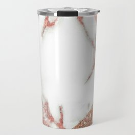 Marble - pink and gold Travel Mug