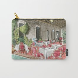 Boca Raton Cafe/ A Woman In A Cafe/ A Woman Is Alone/ A Cafe In Boca Raton Carry-All Pouch
