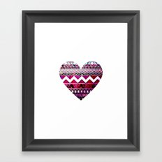 Aztec Heart Framed Art Print