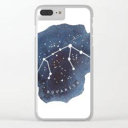 aquarius constellation zodiac Clear iPhone Case