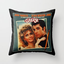 grease is the word Throw Pillow