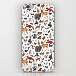 Wild Woodland Animals iPhone Skin