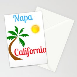 Napa California Palm Tree and Sun Stationery Cards