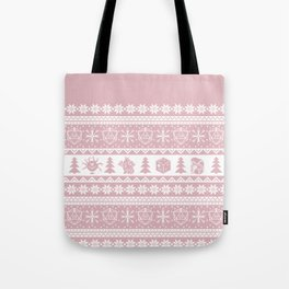 "Roll for Initiative Fair Isle in ""Frosting"" Tote Bag"