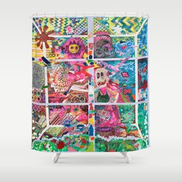 Subconsious Safari By Artist Jeff Parrott Psyexpression Shower Curtain