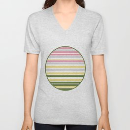 Calm Layers of Pastels Unisex V-Neck