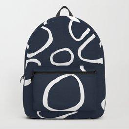 Daisy Circles Navy Backpack