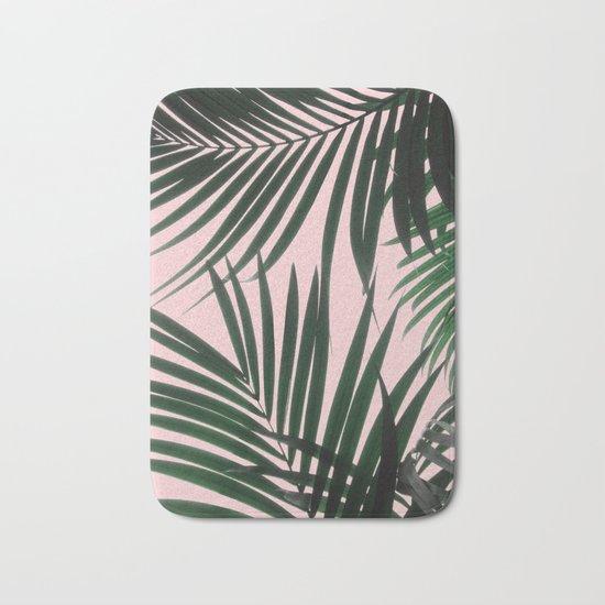 Delicate Jungle Theme Bath Mat