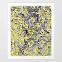 lv Art Prints featuring LV NEONIZED by JANUARY FROST