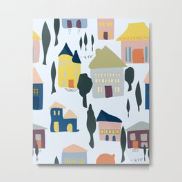 Happy Houses By SalsySafrano. Metal Print