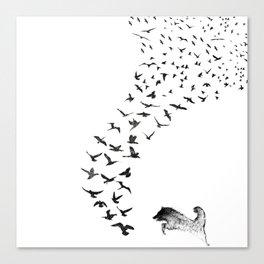 Sheba the Bird Worrier Canvas Print