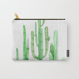 Three Amigos Cacti Green Carry-All Pouch