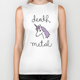 Death Metal Unicorn Biker Tank