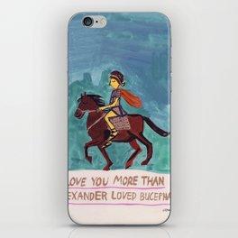 Alexander Loves Bucephalus iPhone Skin