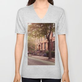 Brooklyn Heights neighborhood take me back Unisex V-Neck