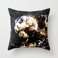 nightmare before christmas Throw Pillows featuring nightmare before christmas by ururuty