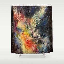 Deer constellation Shower Curtain