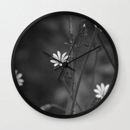 flowers in macro Wall Clock