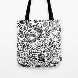 Aztec W&B (Handmade) Tote Bag
