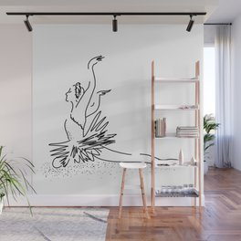 WHITE Swan Dance Wall Mural