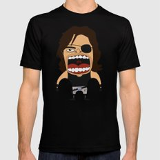 Screaming Snake Plissken Mens Fitted Tee SMALL Black