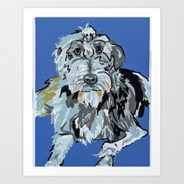 Irish Wolfhound Dog Portrait Art Print