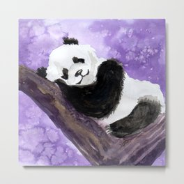Panda bear sleeping Metal Print