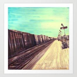 TRAIN STATION Art Print