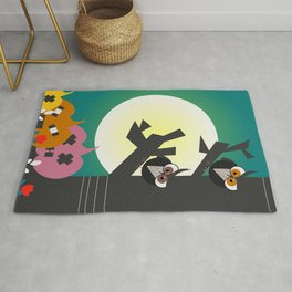 Owls in the moonlight Rug