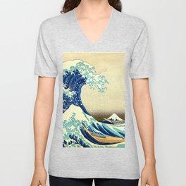 The Great Wave Off Kanagawa Katsushika Hokusai Unisex V-Neck