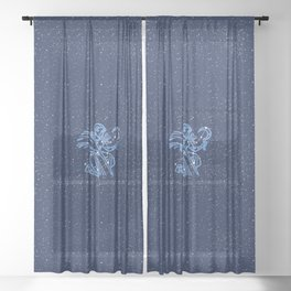Virgo Constellation and Zodiac Sign with Stars Sheer Curtain